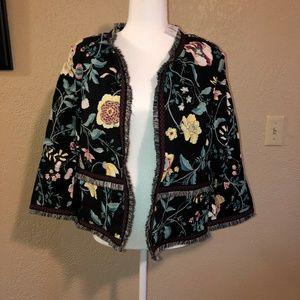 Loft sz 16 Floral Jacket Prairie Style NWT